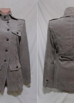 Куртка дизайнерская вельветовая светло-серая *yaya* нидерланды...