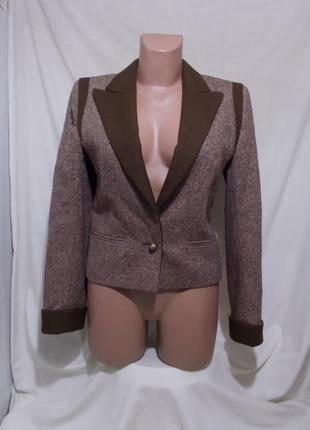 Новая куртка-жакет пестрая шерсть альпаки haute couture *louis...