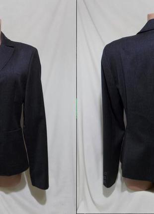 Деловой костюм пиджак+брюки темно-серый чистая шерсть *benetto...