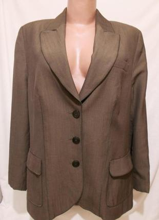 """Пиджак классика болотный цвет с отливом Шерсть Люкс бренд """"BAS..."""