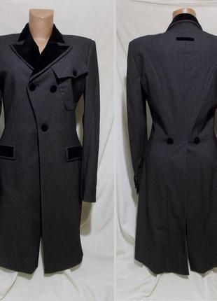 Новое пальто серо-черное haute couture *jean paul gaultier* pa...