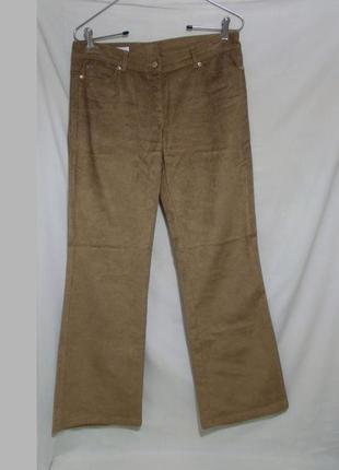 Новые брюки стрейч золотистые вельветовые *escada* 46-48р
