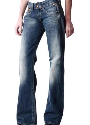 Новые джинсы бойфренды рваные w29 l32 *replay* janice boyfriend
