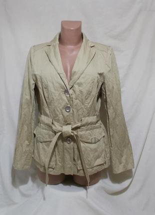 Куртка с поясом легкая золотистая *madeleine* германия 48-50р