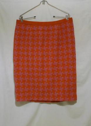 Новая юбка-карандаш яркая пестрая шерсть *boden* 52-54р