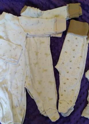 Пакет набор вещей на кроху человечек слип комбинезон боди штаны