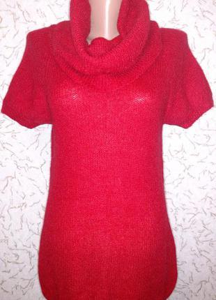 Женский свитер с отворотом, р.46-48