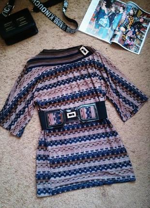 Стильное платье туника с поясом 42-44, 44-46, 46--48