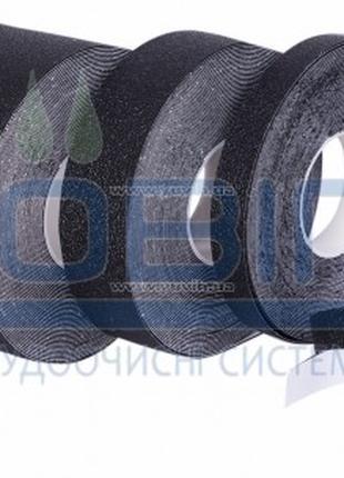 Антискользящая лента упругая, черная. Рулон 18.3