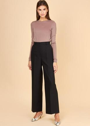 Классические брюки со стрелками, завышенная талия, размер s, m