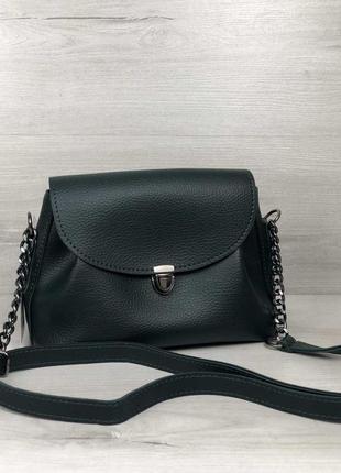 Женская сумочка кросс-боди зеленого цвета