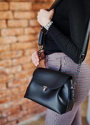 Женская сумочка кросс-боди черного цвета