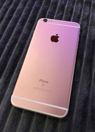 Iphone 6s plus на 32 gb rose gold + 2 подарунки, стан ідеал