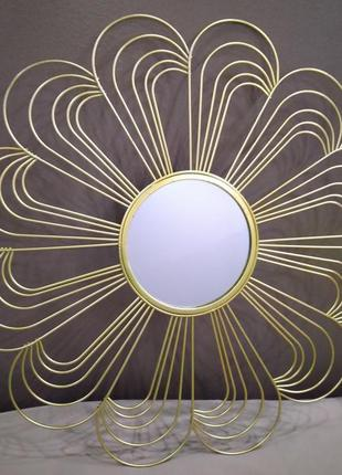 Настенное зеркало Melinera 48х48 Цветок. Германия.