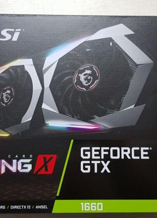 Коробка от видеокарты nVidia GTX1660 MSI (GTX 1660 GAMING 6G)