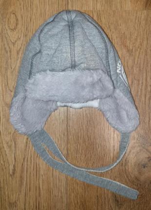 Детская зимняя шапка ушанка pupill польша
