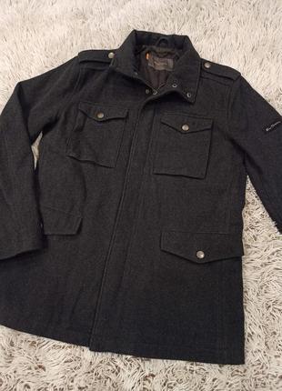 Английское серое пальто ben sherman