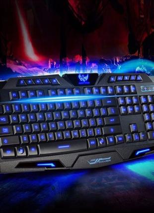 Проводная игровая клавиатура с 3 цветами подсветки Atlanfa M200P