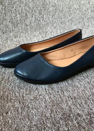 Сині балетки, туфлі лодочки, 37 розмір. туфли, синие балетки