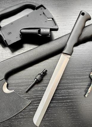 Тактический топор с ножом и свистком