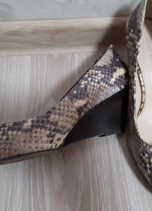 Туфли женские под кожу питона