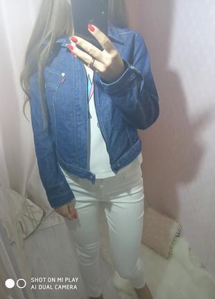 Джинсовая куртка джинсовка синяя levis