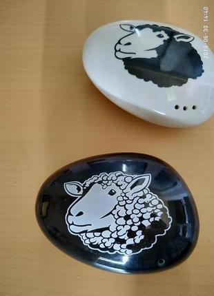 """Набор для специй """"овечки"""" , два предмета, керамика"""