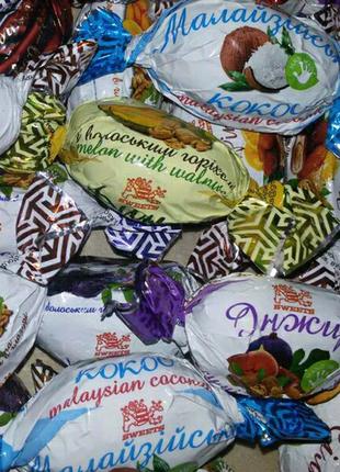 Конфеты Ассорти сухофрукты в шоколаде. 1кг