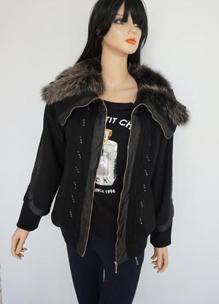 🔥🔥🔥 куртка деми с меховым воротником, турция, dalida, м-л
