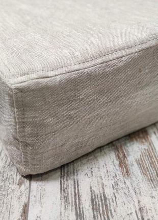 Тонкий матрас, матрас на диван, 80х190хh5, льняной чехол, футон