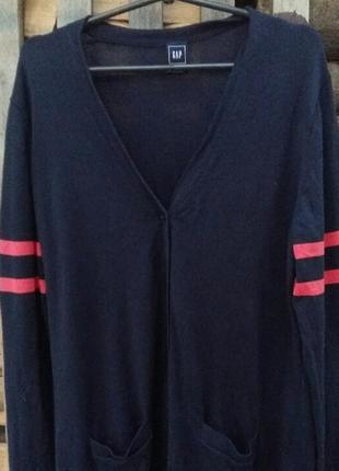 Мужская кофта кардиган реглан на пуговицах gap с карманами