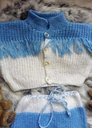 Шикарный тепленький детский костюм штаны и кофта 2в1