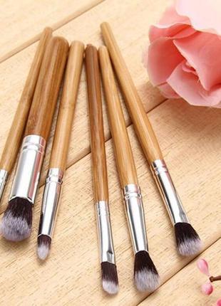 Кисти для макияжа набор 6 шт. бамбук & таклон probeauty