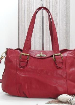 Шикарная сумка vera pelle, италия, натуральная кожа