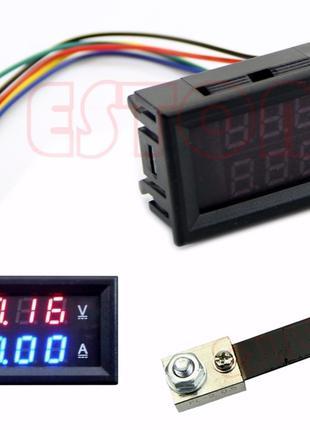 Вольт-амперметр с шунтом 100А постоянного тока DC 0-100V