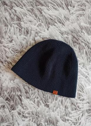 Мужская шапка темно-синяя, мужская шапка демисезонная