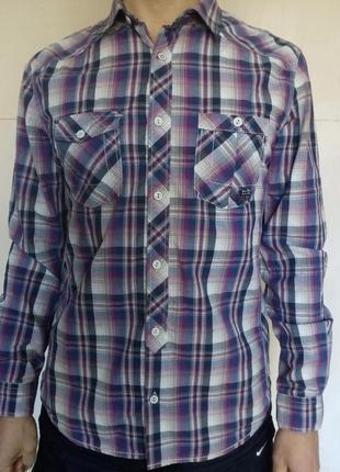 Мужская рубашка указан размер-м/параметры-l