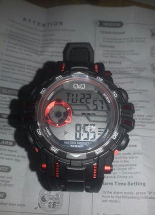 Новые мужские спортивные наручные часы Q&Q M165J800Y