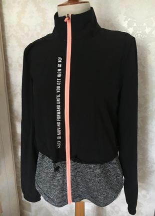 Кофта спорт ветровка куртка 2в1