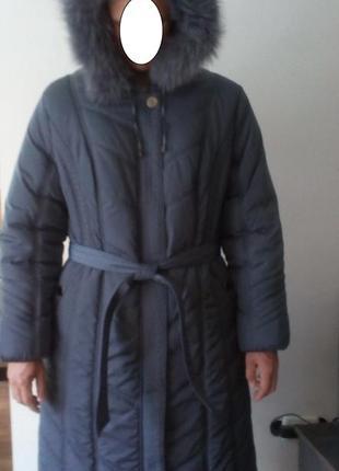 Женское теплое пальто с капюшоном baccara/56 размер указан.для...