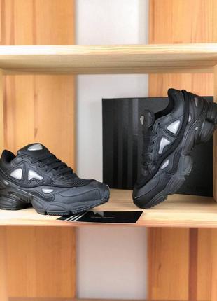 Кроссовки raf simons x adidas ozweego 2 monochrome black черны...