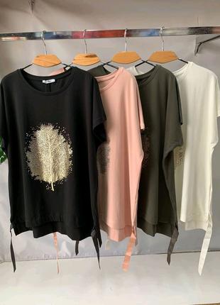 Женская футболка размер 58-64 цвета