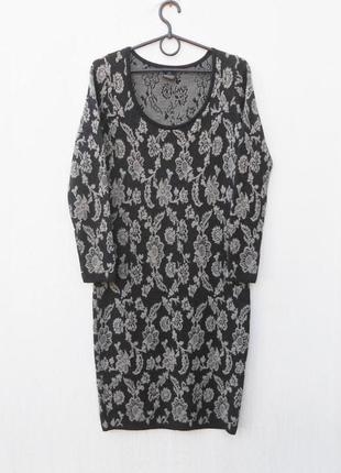 Теплое осеннее зимнее 50% шерстяное базовое облегающее платье ...