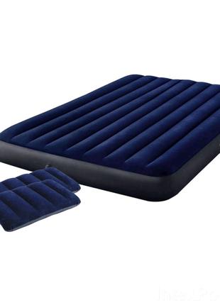 Надувний матрац Intex , 137 x 191 x 25 см, з двома подушка+насос