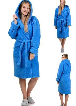 Махровый,короткий,женский домашний,банный халат.