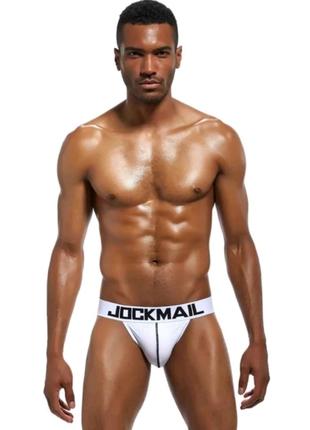 JOCKMAIL Брендовые мужские бикини, сексуальные мужские трусы-бики