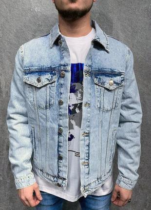 Джинсовка мужская синяя / джинсовый пиджак куртка курточка вар...