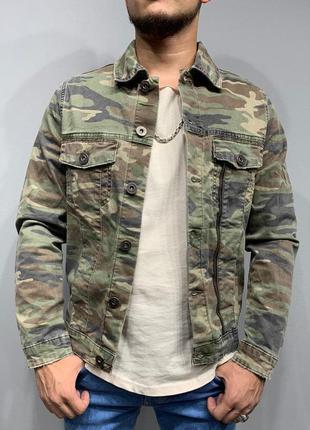Джинсовка мужская камо / джинсовый пиджак куртка курточка варе...