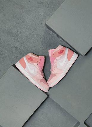 Кроссовки air jordan 1 retro mid pink