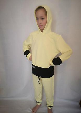Спортивный костюм желтый 128- 146 рост
